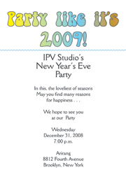 new years party invitation new years