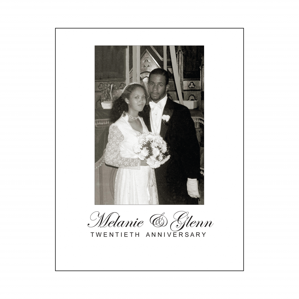 Cover of 20th Wedding Anniversary Party Thank You Card with Photo
