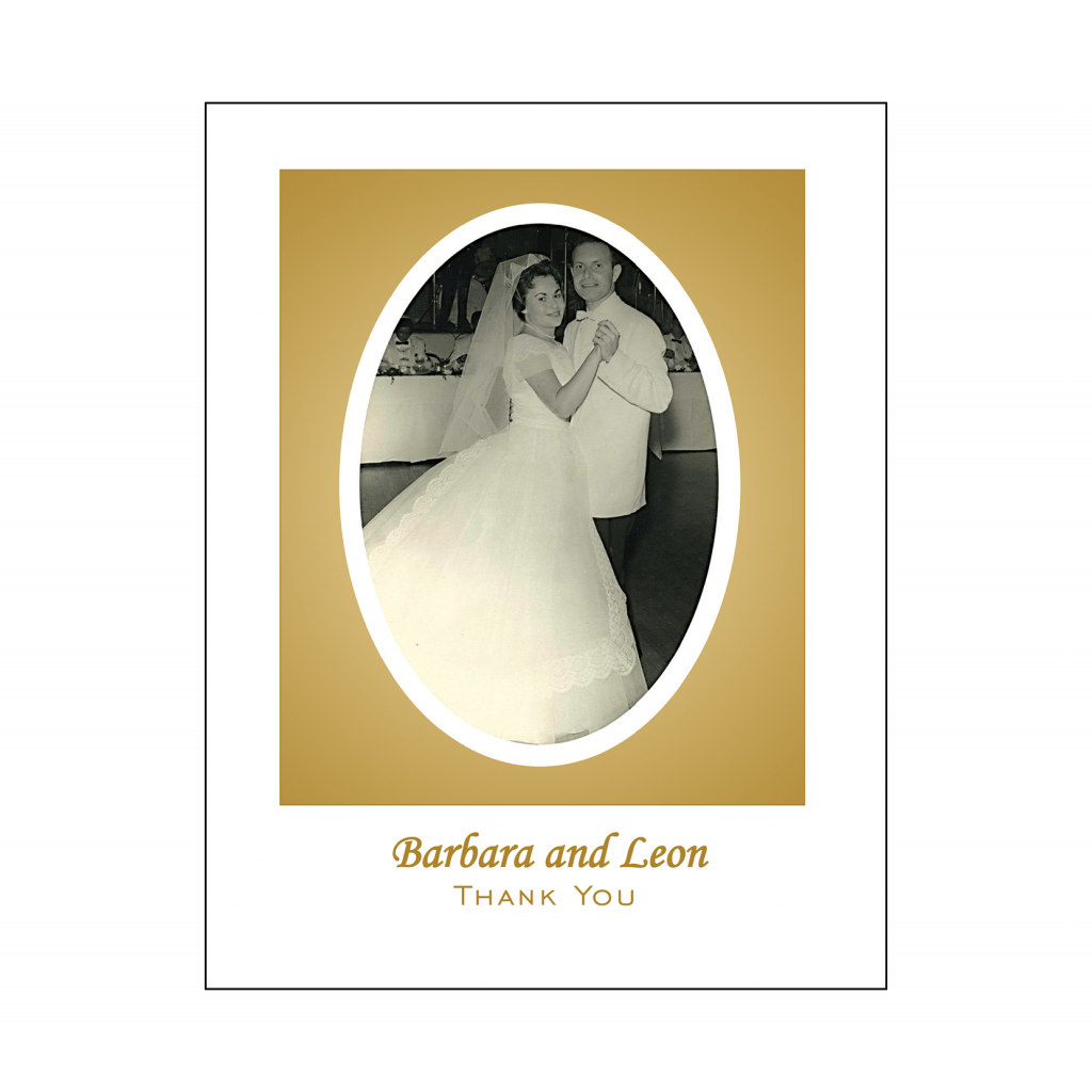 Cover of 50th Wedding Anniveresary Party Thank You Card with Photo