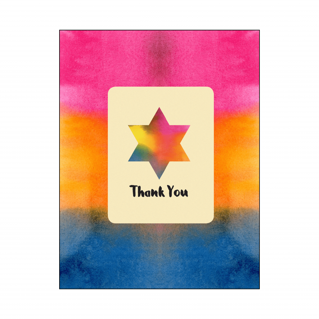 Thank You Card with Star of David