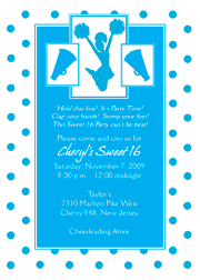 Cheerleading Theme Invitations