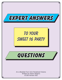 cover of booklet Expert Answers to your Sweet 16 Party Questions