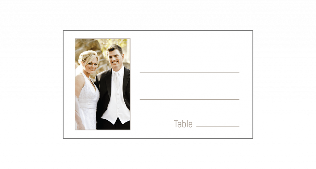 25th Wedding Anniversary Party Place Card with Photo