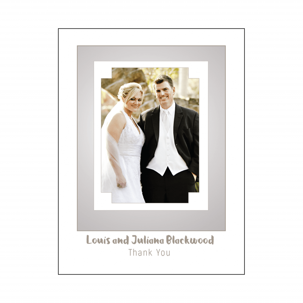 Cover of 25th Wedding Anniversary Party Thank You Card with Photo