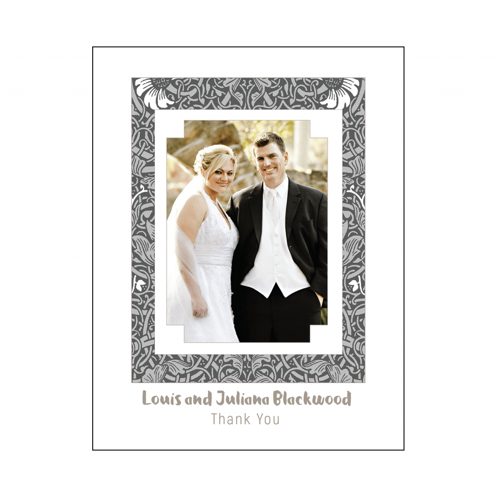 25th Wedding Anniversary Thank You Card Cover with Photo