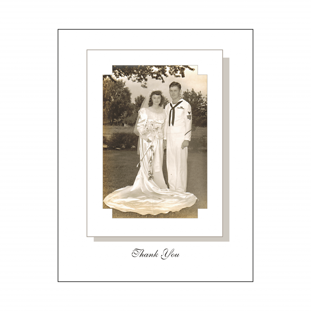 Cover of Thank You Card with Photo - 60th Anniversary