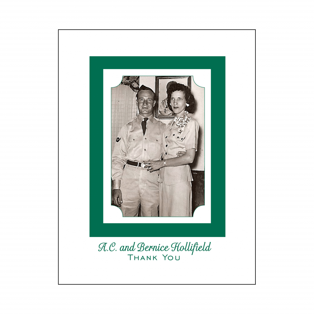 Cover of 55th Wedding Anniversary Party Thank You Card with Photo
