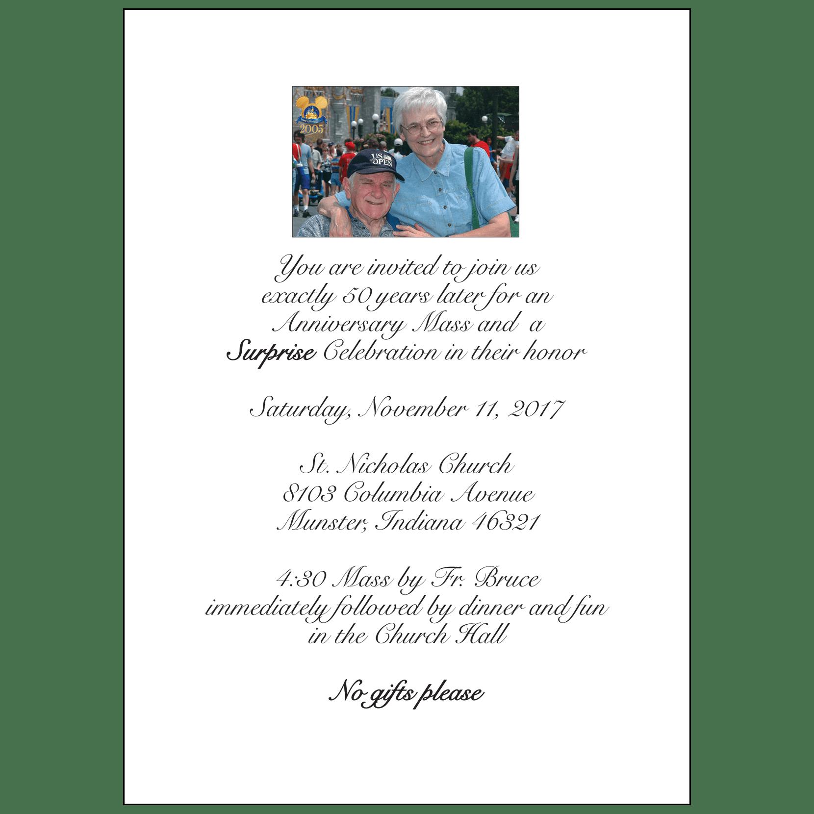 50th Wedding Anniversary Party Invitation, Style 1O – IPV Studio
