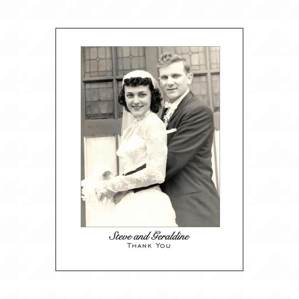 50th Wedding Anniversary Party Thank You Card with Photo