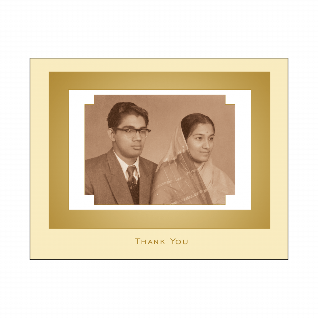 Cover of 50th Wedding Anniversary Party Thank You Card with Photo