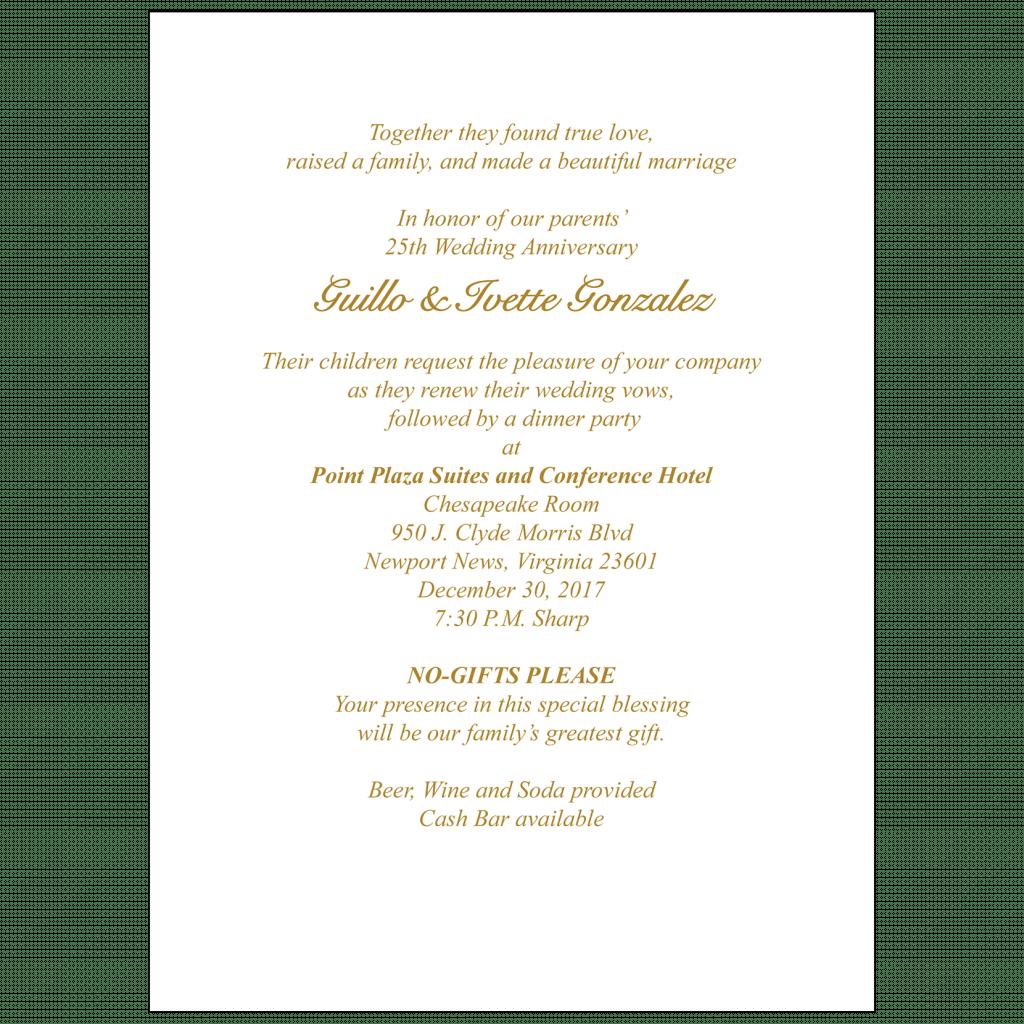 Text Inside Invitation