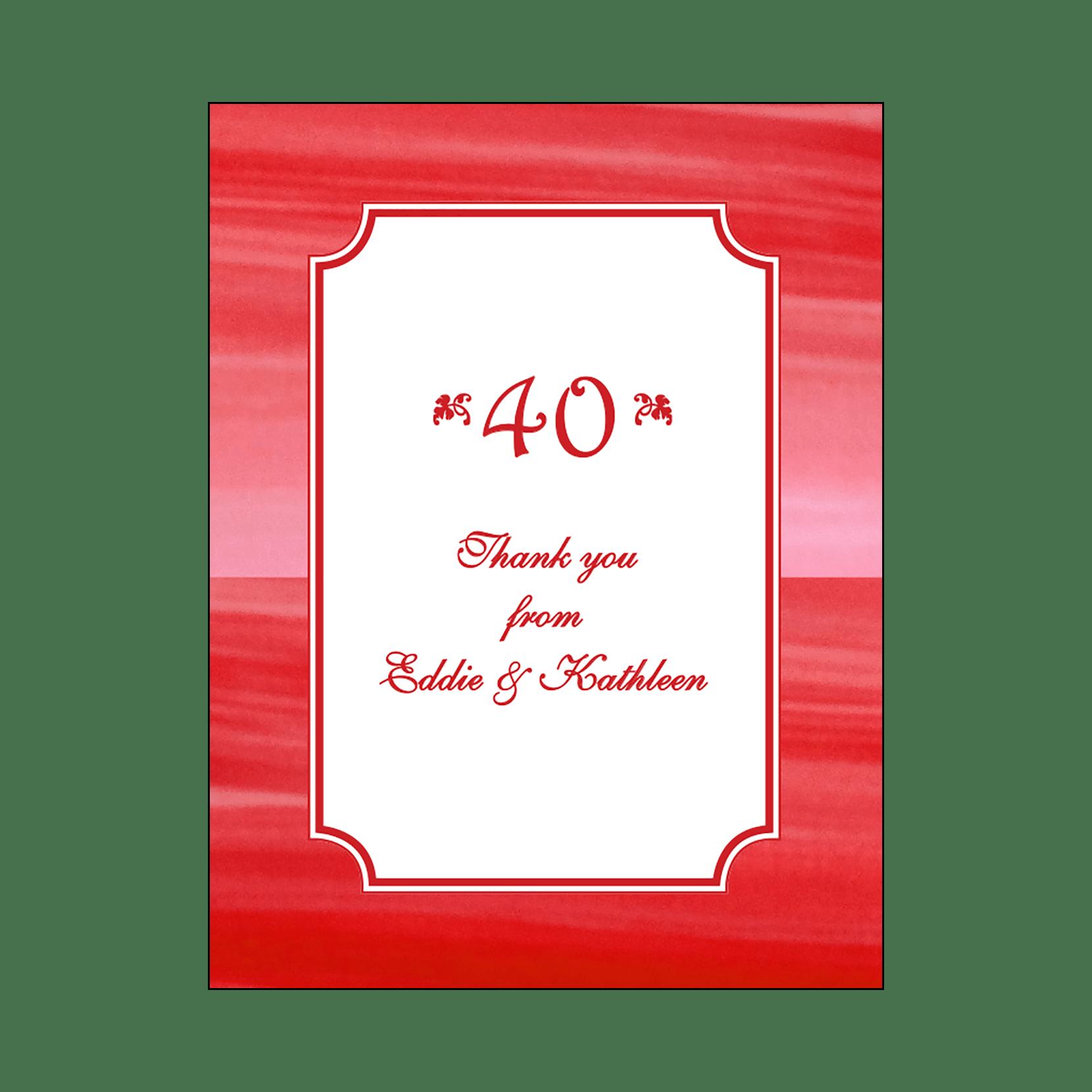 Anniversary Party Invitation, Style AP-003 – IPV Studio