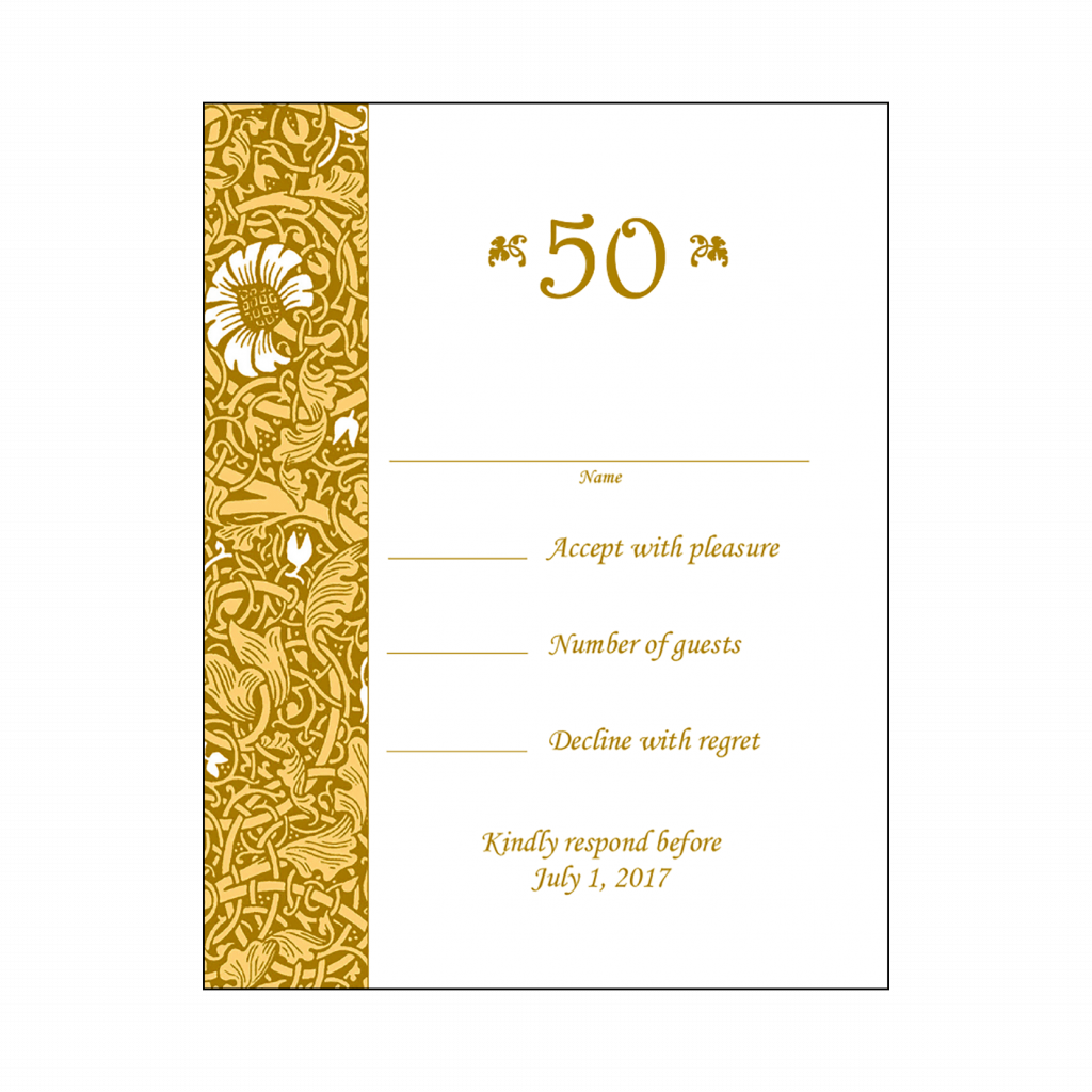 Anniversary Party Response Card