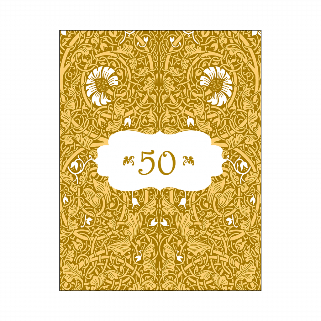 50th Anniversary Thank You Card Cover