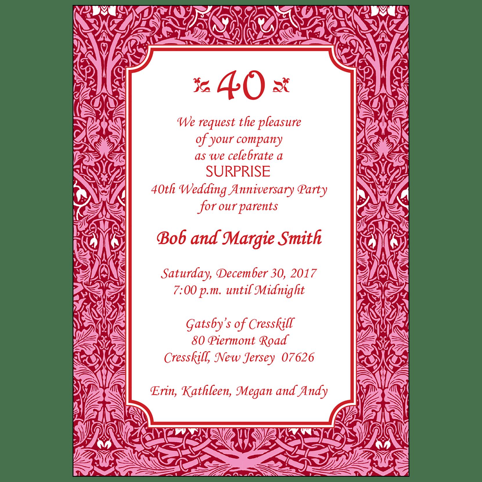 Anniversary Party Invitation Style Ap 019 Ipv Studio