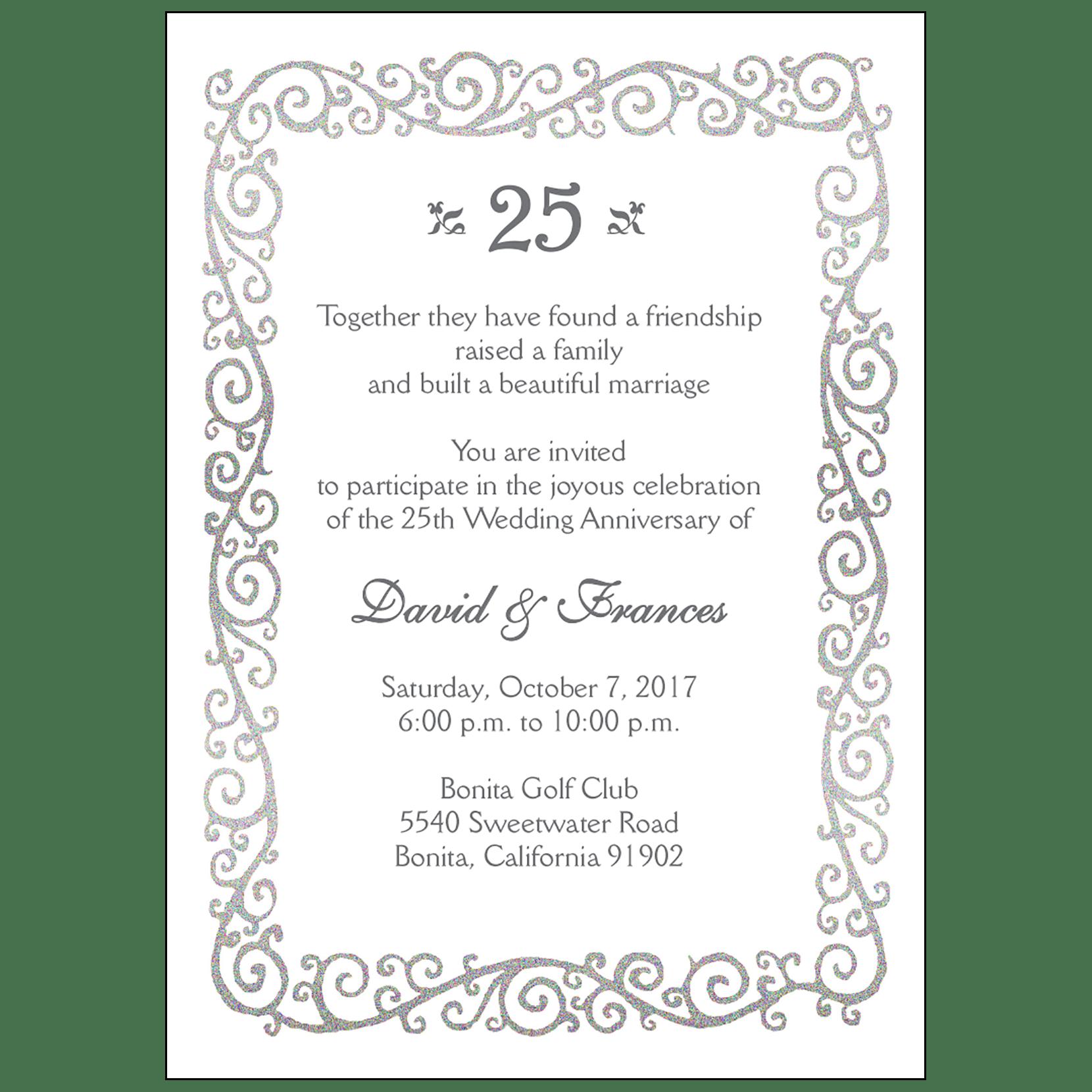 Anniversary Party Invitation Style AP 026