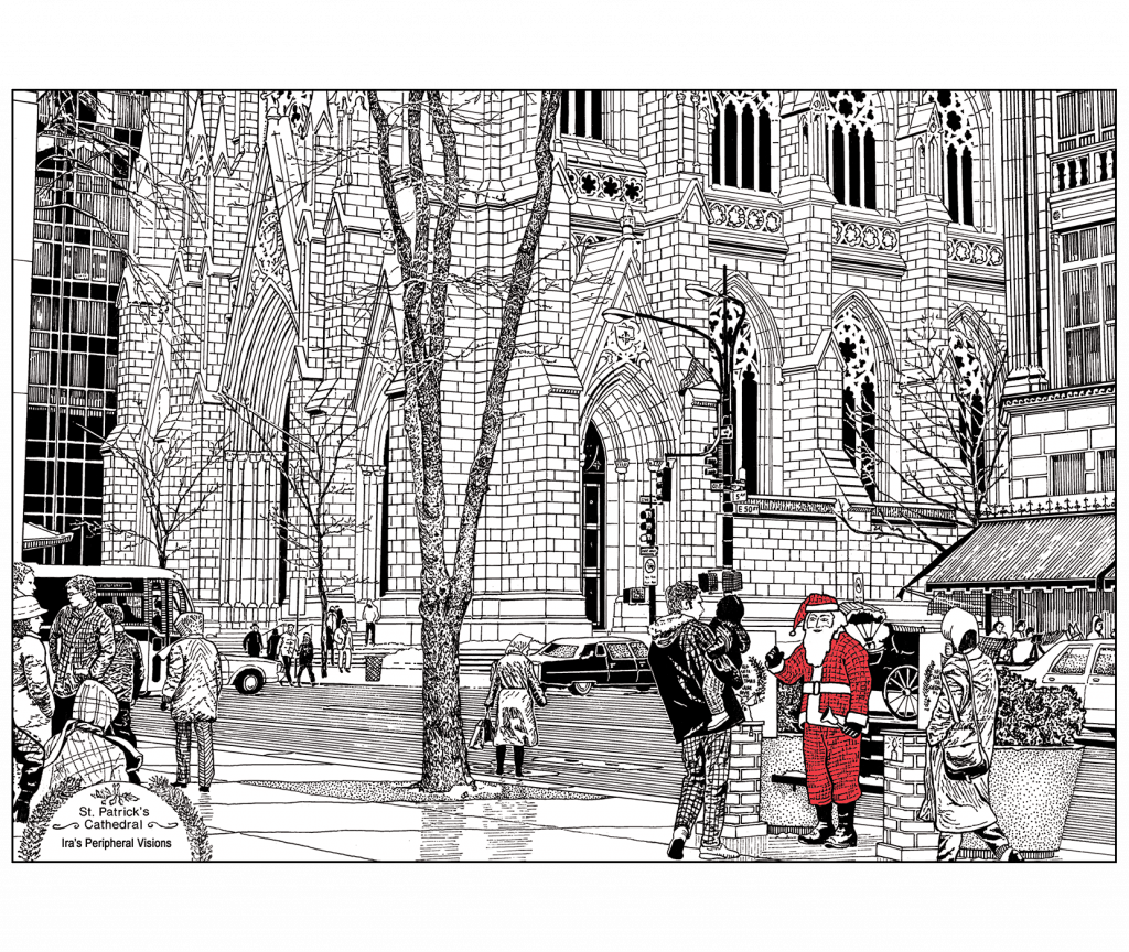 Front and Back of Holiday Card