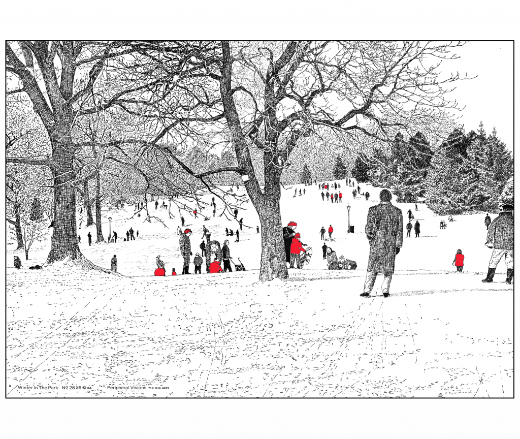 Front and Back Cover of Holiday Card