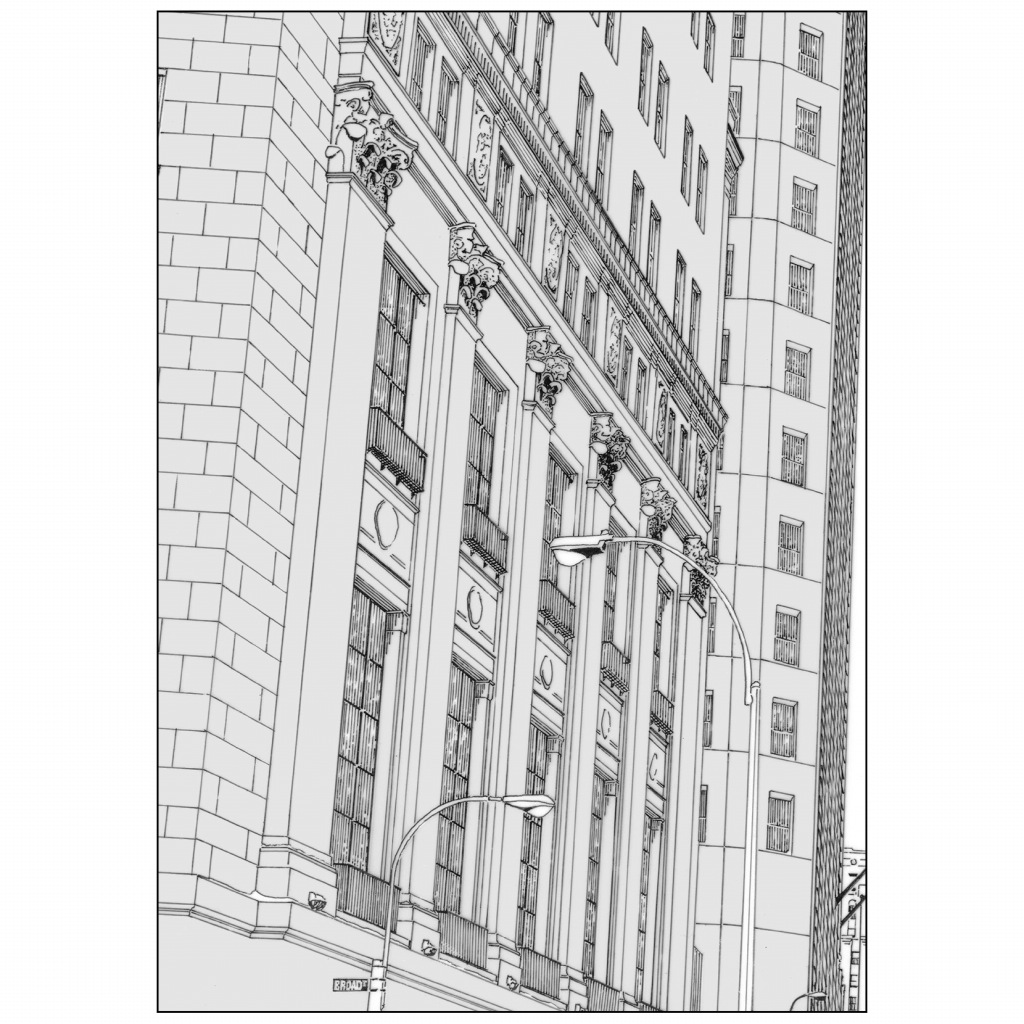 Back of Wall Street Winter Christmas Holiday Card