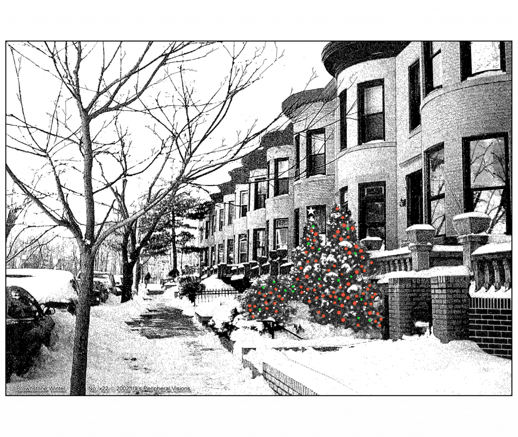 Front and Back Cover of Christmas Holiday Card