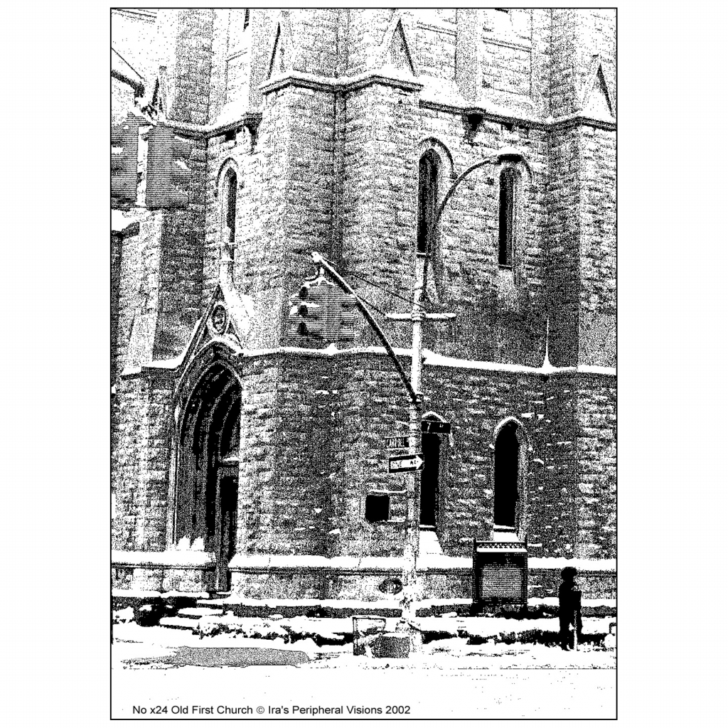 Back Cover of Christmas Holiday Card - Old First Church