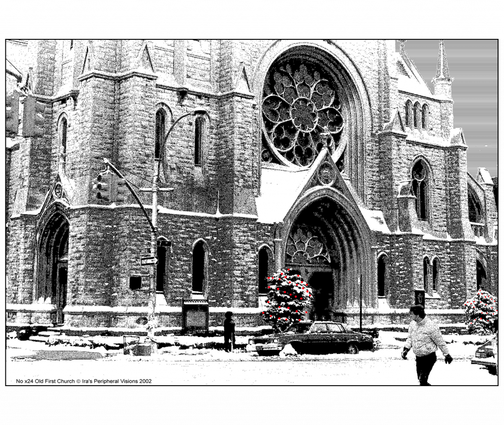 Front and Back Cover of Christmas Holiday Card - Old First Church