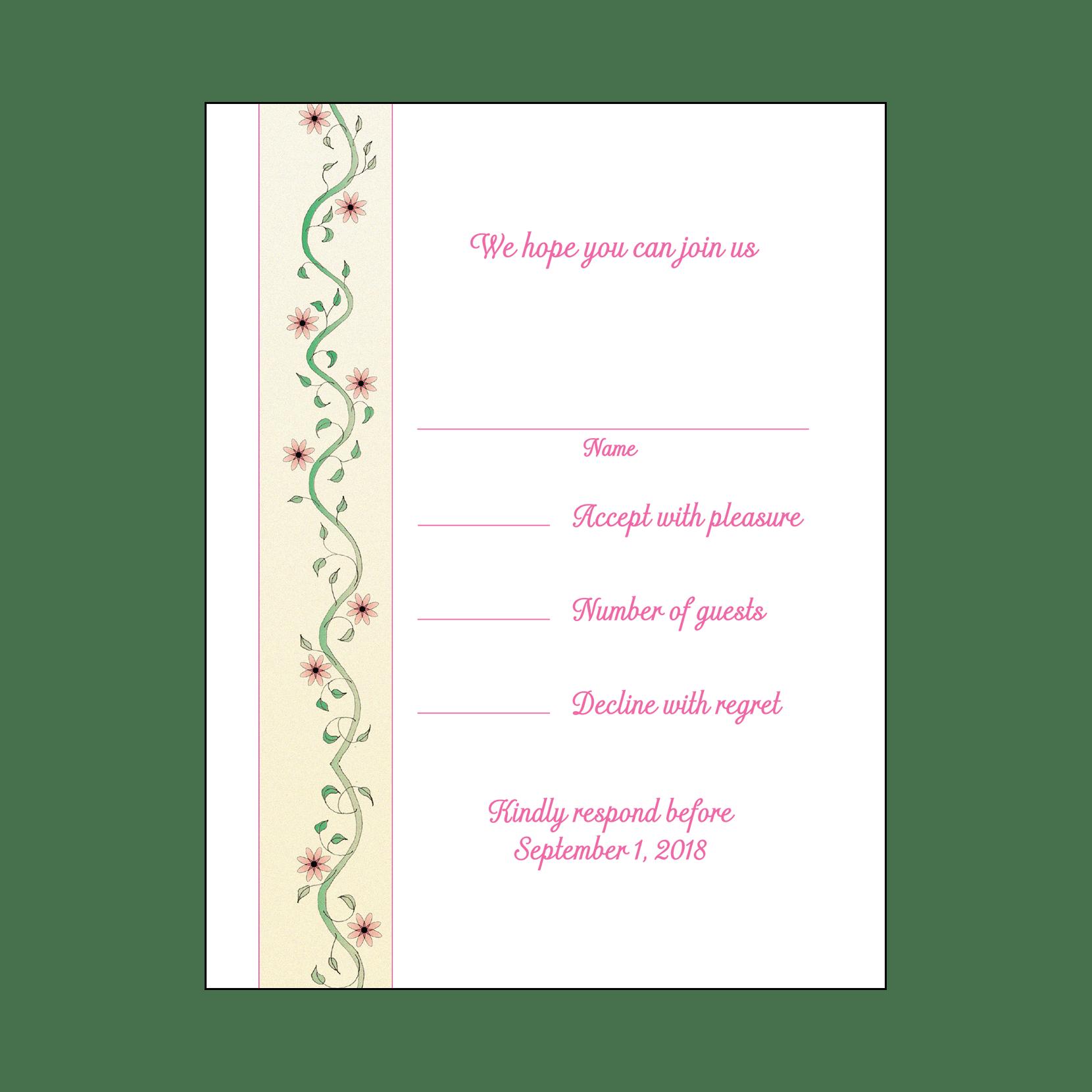 Baby Naming Invitation, Style BN-01m – IPV Studio