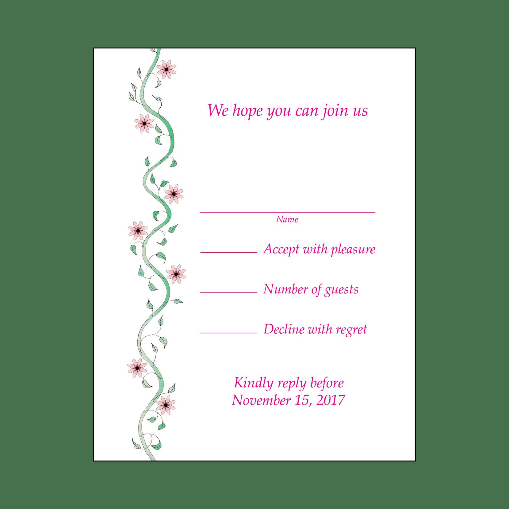 Baby Naming Invitation, Style BN-12twin – IPV Studio
