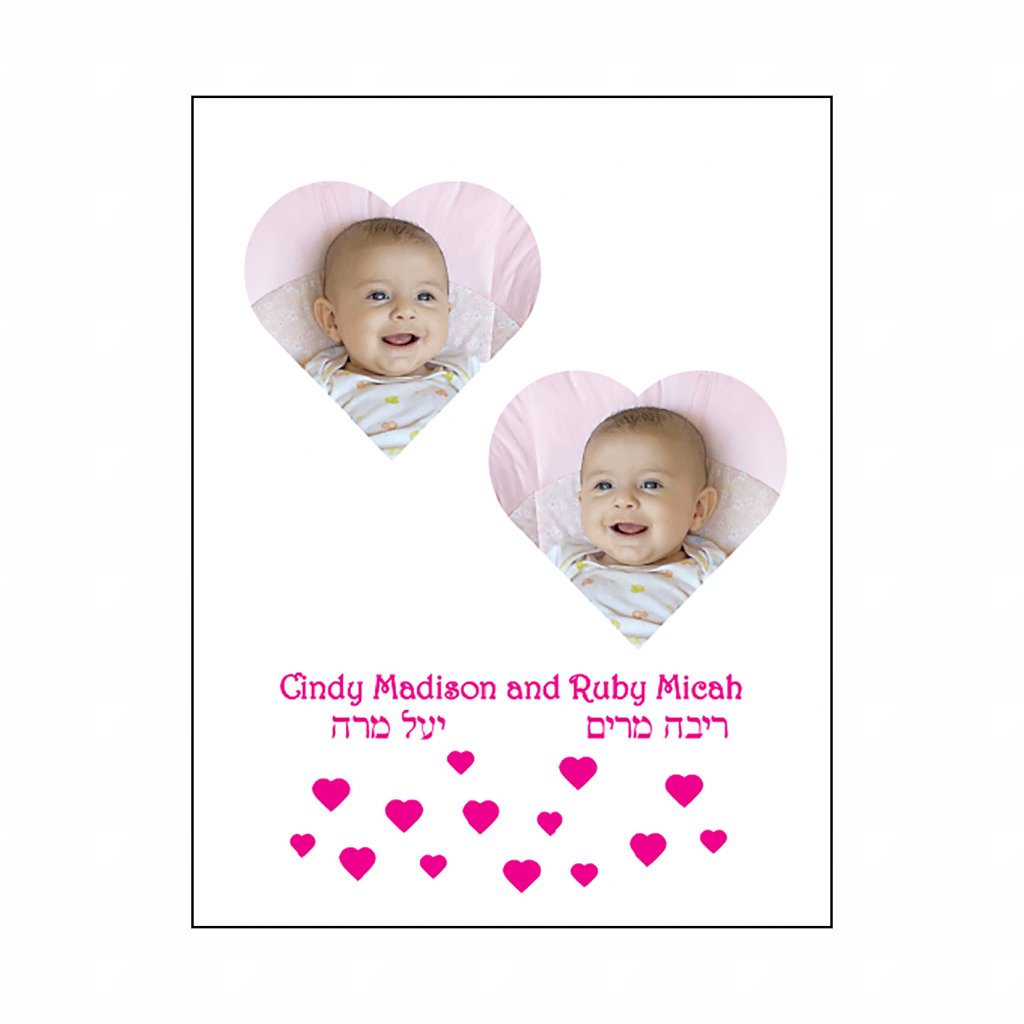 Thank You Card with Baby Photos