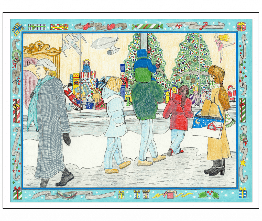 Front and Back Covers of Christmas Holiday Card