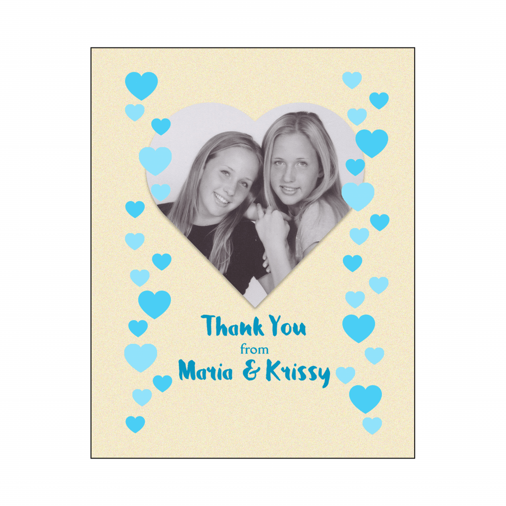 Sweet 16 Thank You Card with Photo - Twins