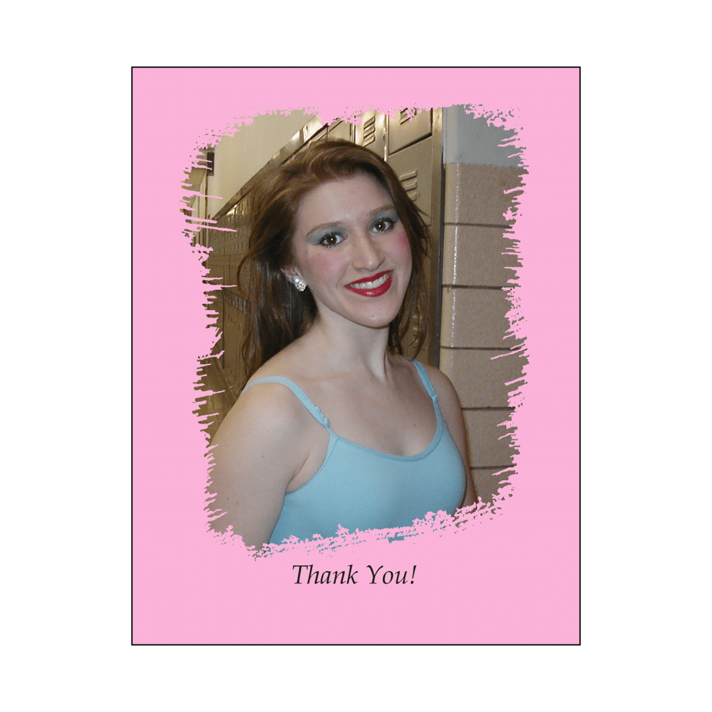 Sweet 16 Thank You Card with Photo