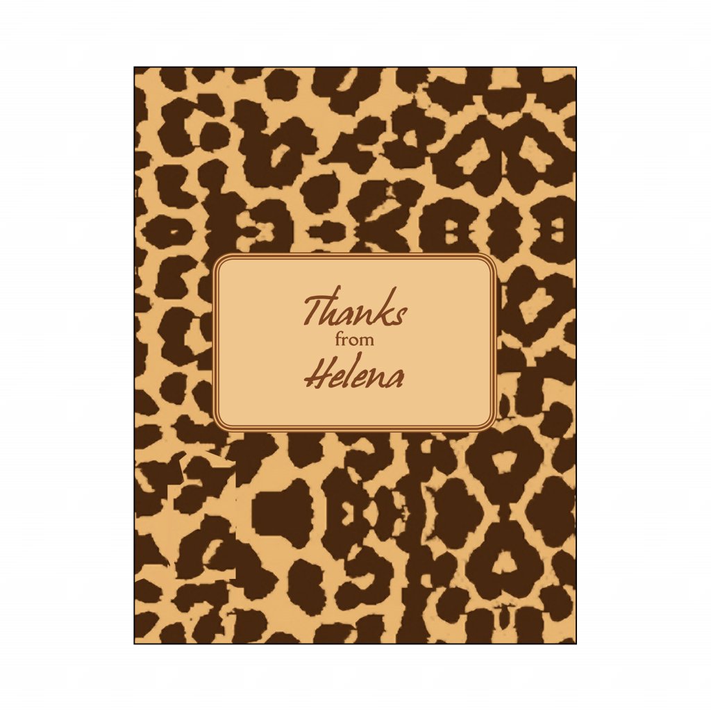 Cover of Sweet 16 Thank You Card