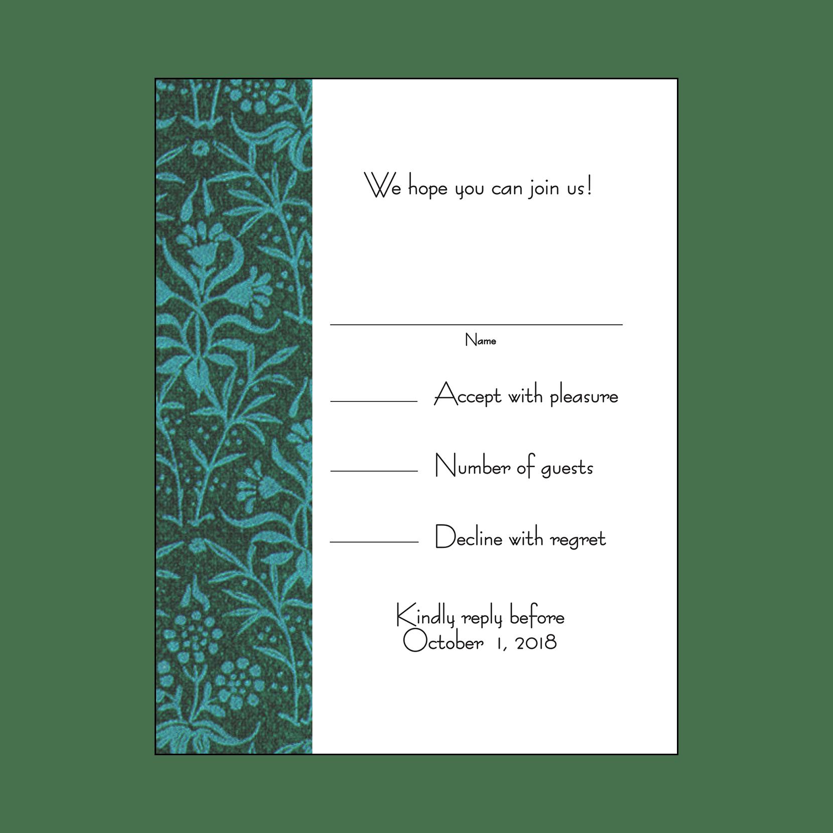 Baby Naming Invitation, Style WMBN-08 – IPV Studio