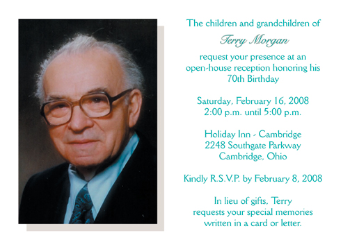 70th Birthday Party Invitation Bp 003 ⋆ Ipv Studio