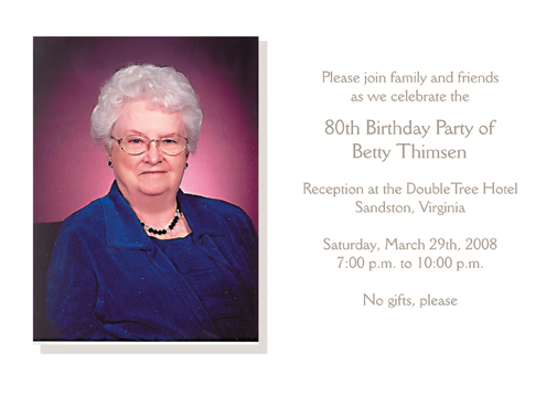 80th Birthday Party Invitation Bp 005 ⋆ Ipv Studio