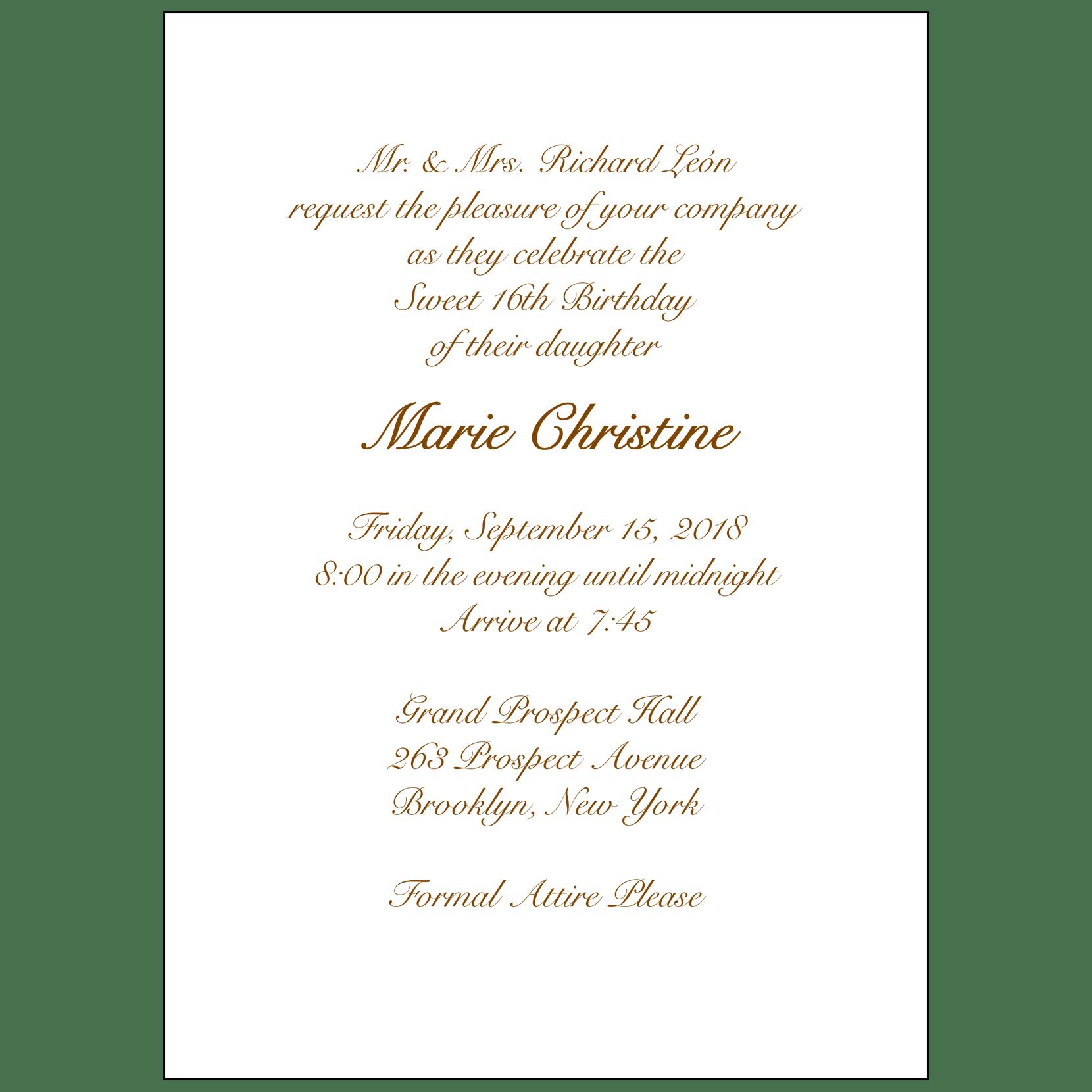 Sweet sixteen invitation style 1 sample a ipv studio text inside sweet 16 invitation stopboris Image collections