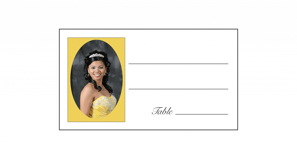 Place Card with Photo