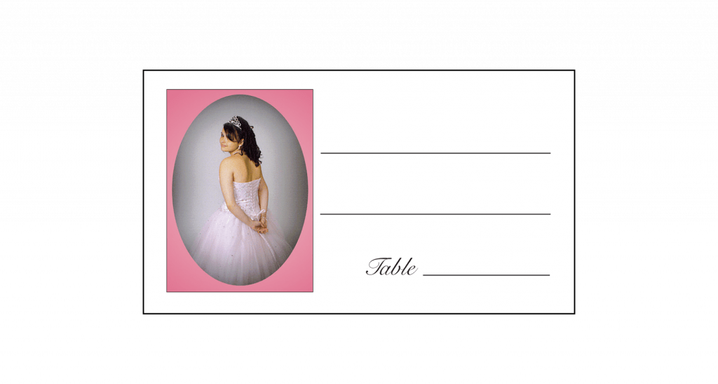 Sweet 16 Place Card with Photo