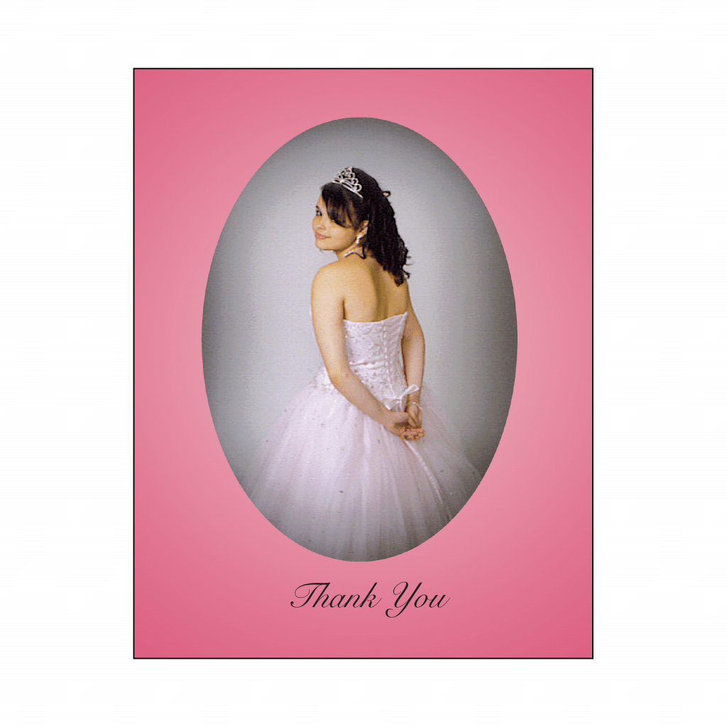 Cover of Sweet 16 Thank You Card with Photo