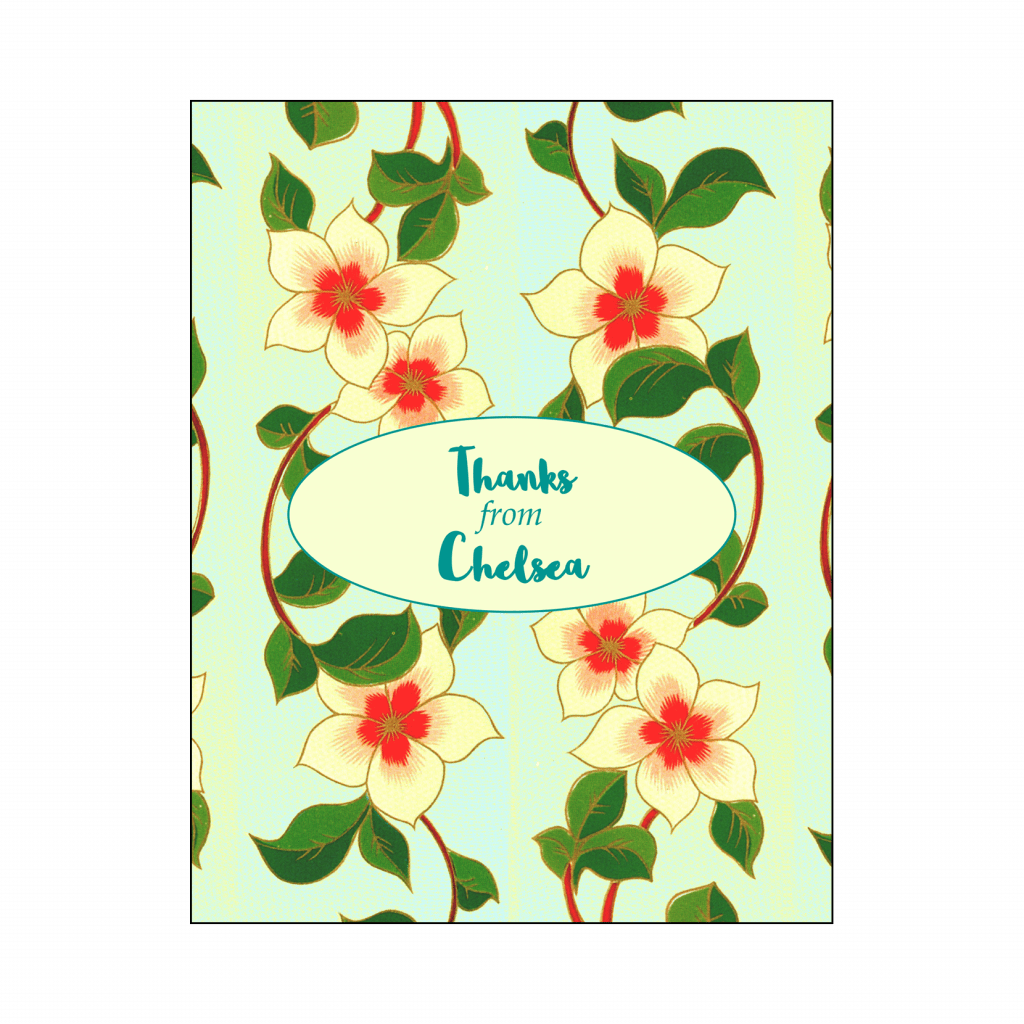 Cover of Thank You Card