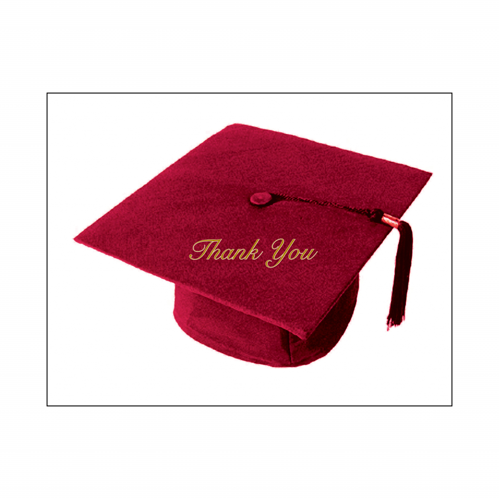Cover of Graduation Thank You Card