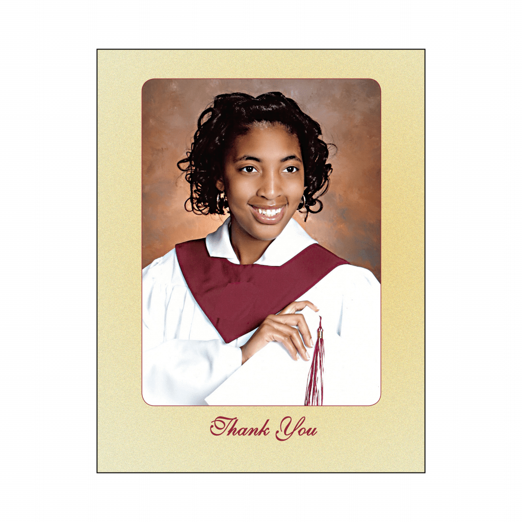 Cover of Graduation Thank You Card with Photo