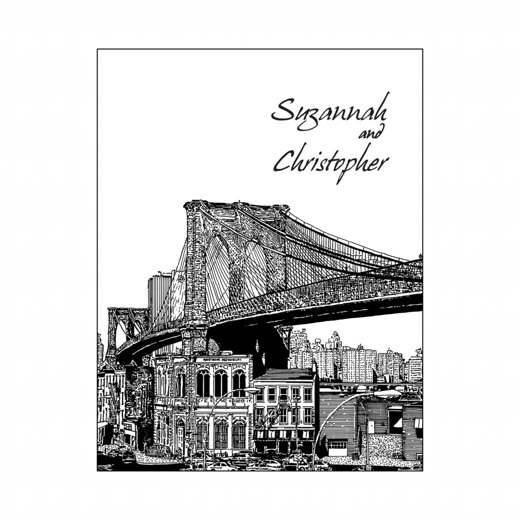 Cover of New York Theme Thank You Card