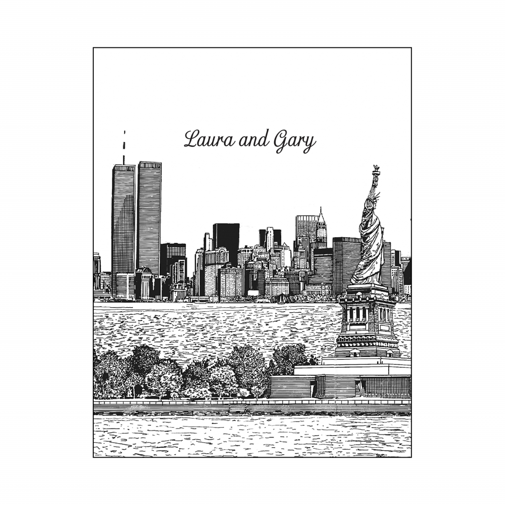 Cover of New York City Theme Thank You Card