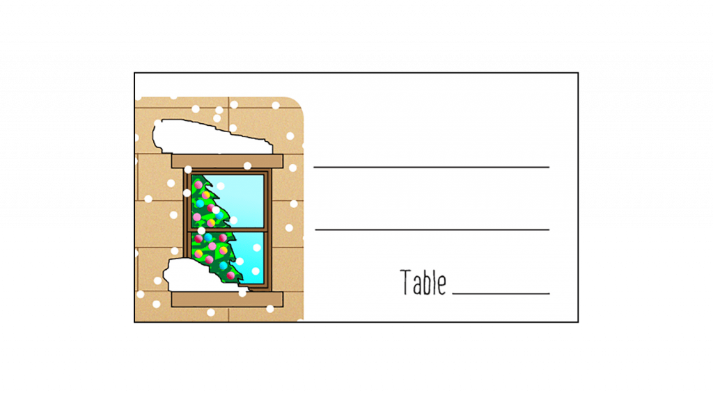 Christmas Holiday Party Place Card