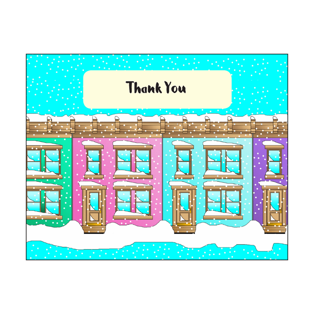 Cover of Christmas Holiday Thank You Card