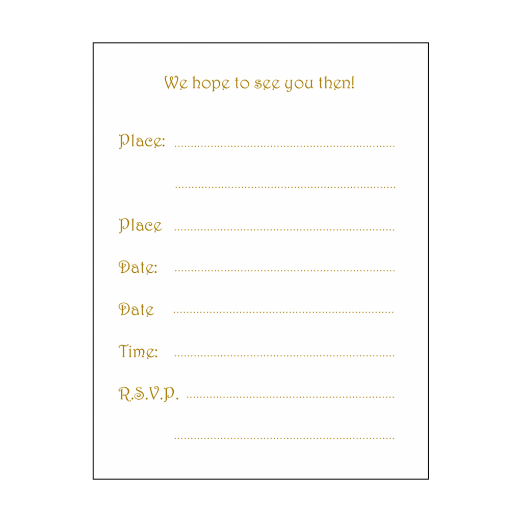 Fill-in Form for Hanukkah Party Invitation